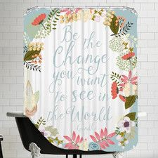 """Be the Change"" Shower Curtain"