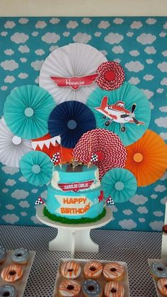 Disney planes #aeroplaneparty 2 Birthday, Cars Birthday Parties, Birthday Party Decorations, Disney Planes Birthday, Disney Planes Party, Airplane Party, Backdrops For Parties, First Birthdays, Party Time