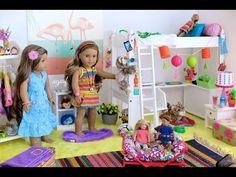 American Girl Doll Z Bedroom Lea Clark American Girl, American Girl Doll Lea, American Girl House, American Girl Doll Pictures, American Girl Stuff, Princess Doll House, Ag Doll House, Doll Houses, Barbie House