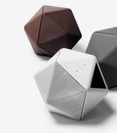 "Designer Mathieu Lehanneur calls his wireless audio device ""technological food"", inspired by the shape and size of his favorite fruits."