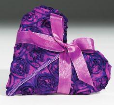 Purple Flower Heart Sachet