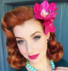 Pin up hairstyles have never really gone out of style. Though the pin up era most recognizably took place in the and the style dates all the way back to the a time known for its gaiety, and includes the signature styles of the and the as well. The point … 1950s Hairstyles, Vintage Hairstyles, Braided Hairstyles, Wedding Hairstyles, Cool Hairstyles, Hairstyles 2018, Updo Hairstyle, Hairstyles Videos, Formal Hairstyles