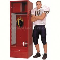 """- """"Best Value""""  Fully loaded with top shelf, lockable storage box, clothes hanging rod and a lockable footlocker. Available in 7 sizes and unlimited color choices. Production time is typically 4 to 6 weeks."""