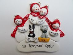 Hey, I found this really awesome Etsy listing at https://www.etsy.com/listing/253817729/personalized-snow-family-of-4-with-2