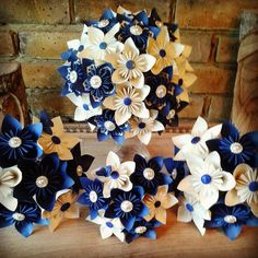 Most gorgeous alternative bouquet one of the very best paper origami bouquets made in UK ideal perfect bouquet for ivory royal navy blue Cornwall Cornish tartan theme wedding. Ultimate bridal bouquets best bouquet 2015 made from paper by PaperBouquets.co.uk