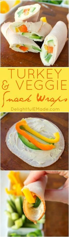 These super simple turkey wraps are the ultimate healthy snack or light lunch when you're looking to make healthier choices! Uses simple deli turkey, fresh sliced peppers and cucumbers and a wedge of Laughing Cow Cheese. Just 3 Weight Watchers Smart Points!!