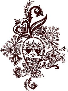 Image detail for -Paisley Skull Tattoo © drilling in the dark #14664952 - See ...