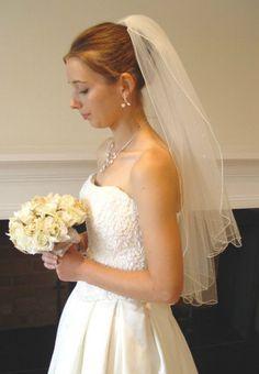 WHITE WEDDING VEIL with SWAROVSKI AB CRYSTALS 24 /28  UK BRIDAL + PEARL EARRINGS