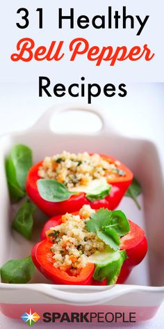 6 new ways to use bell peppers. Fast, easy and #healthy #recipe ideas! | via @SparkPeople #bellpeppers #veggies #dinner #cooking #food #nutrition