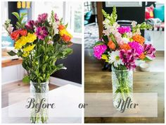 How to make grocery store bouquets into a beautiful florist like floral arrangement