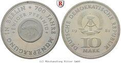 RITTER DDR, 10 Mark 1981, Münze Berlin, J. 1582, PP #coins #numismatics