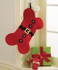 Mud Pie Bone Stocking Dog Bone Extra Large Beautiful Christmas Stocking!