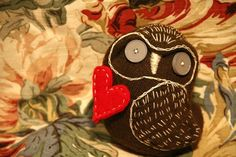 Sock Owl made to order by POST STREET by katarinathorsen on Etsy, $40.00