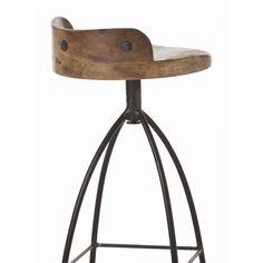 Rustic Counter Stools, Industrial Bar Stools, Wooden Bar Stools, Swivel Bar Stools, Bar Counter, Bar Chairs, Modern Industrial, Stool Height, Stools With Backs