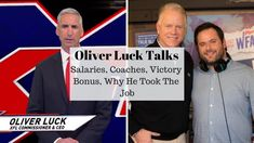 Oliver Luck Talks Salaries, Coaches, Victory Bonus, Why He Took The Job Vince Mcmahon, Comebacks, Victorious, Coaching, Success, Positivity, News, Training