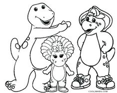 22 Best Barney Coloring Pages Online Images In 2019