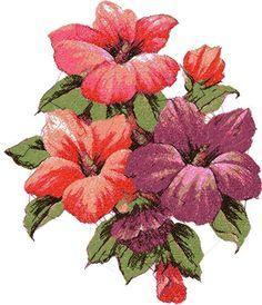 Hibiscus photo stitch free embroidery design - Photo stitch embroidery designs - Machine embroidery community