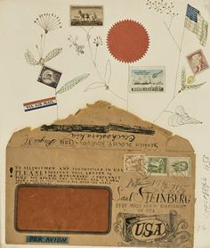 The Collection of Edward Albee - View AUCTION DETAILS, bid, buy and collect the various prints and artworks at Sothebys Art Auction House. Collage Illustration, Collage Art, Edward Albee, Saul Steinberg, Mail Art, Art Auction, Photomontage, Illustrators, Hand Lettering