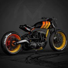 Via Ziggymoto Barker ___________________ Siga se você gosta de motos . Futuristic Motorcycle, Moto Bike, Cafe Racer Motorcycle, Blitz Motorcycles, Cool Motorcycles, Cafe Bike, Cafe Racer Bikes, Cafe Racers, Honda