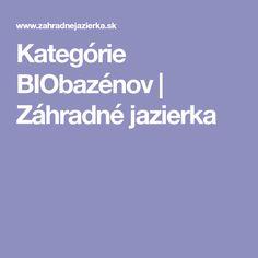 Kategórie BIObazénov| Záhradné jazierka