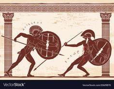 Ancient Greek Sculpture, Ancient Greek Art, Ancient Greece, Greece Tattoo, Greek Shield, Greece Mythology, Greek Antiquity, Greek Warrior, Estilo Art Deco