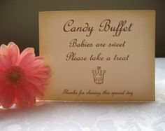 creative baby shower candy buffet table - Google Search
