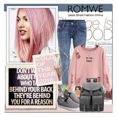 """""""Romwe XII/6."""" by adanes ❤ liked on Polyvore featuring women's clothing, women's fashion, women, female, woman, misses, juniors, romwe and polyvoreeditorial"""