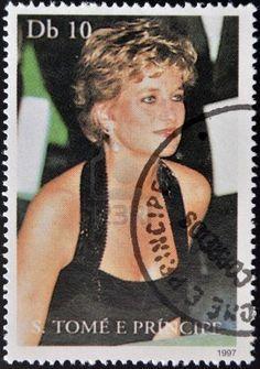 Diana Princess of Wales, circa 1997 (printed in Sao Tome and Principe)#DİANA#