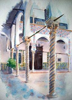 Alger West ed-dar Palais Hassan Pacha - Peinture,  55x75 cm ©2008 par Catherine Rossi -