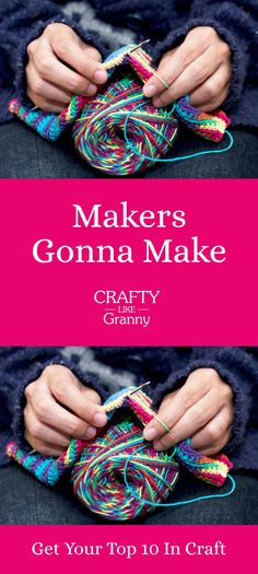 This article features 10 fabulous crafting projects to make. Particularly beneficial for those of us who love to make and are looking for inspiration. Whether you knit, crochet, sew, or embroider. There's something to get your creative mojo going. -- Repin this and click through to read about these 10 great craft projects.  Make Mondays fun, get our craft inspiration delivered to your inbox - CraftyLikeGranny.com #knitting #crocheting #sewing #embroidery
