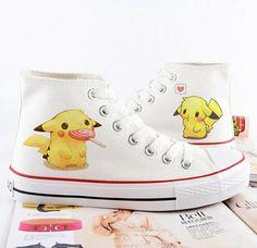 Pokemon, pikachu, Pokemon zapatos, converse, mano personalizada zapatos regalos…