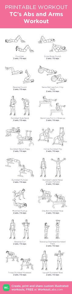 TC's Abs and Arms Workout: my custom printable workout by @WorkoutLabs #workoutlabs #customworkout