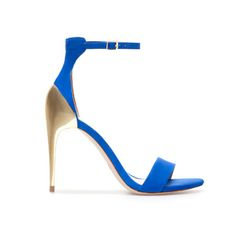 Fierce royal blue with gold...can't go wrong with these paired with skinny jeans or liquid leggings!