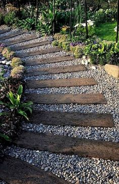 Outdoor Landscaping, Front Yard Landscaping, Outdoor Gardens, Wooded Backyard Landscape, Pebble Landscaping, Front Yard Walkway, Acreage Landscaping, Backyard Walkway, Hydrangea Landscaping