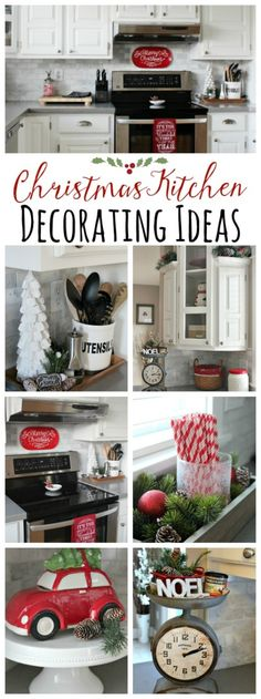 Beautiful+Christmas+kitchen+decorating+ideas!+//+cleanandscentsible.com