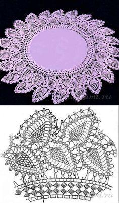 Trendy Ideas For Crochet Lace Edging Pattern Haken Col Crochet, Crochet Doily Diagram, Crochet Dollies, Crochet Lace Edging, Crochet Collar, Crochet Doily Patterns, Crochet Chart, Thread Crochet, Irish Crochet