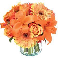 Resultado de imagem para arranjos de flores laranja