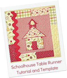 The Ribbon Retreat Blog - Schoolhouse Table Runner Instructions