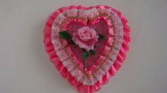 Vintage Valentines Day Heart Shaped Candy Keepsake by PapyrusHeart, $30.00