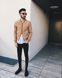 Christoph Schaller - Ami Suede Jacket, Saint Laurent Tee, Acne Jeans, Pete Sorensen Chelsea - TURNING BACK AROUND