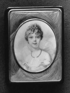 Princess Charlotte of Wales, miniature by Richard Cosway. Watercolor on ivory; tortoiseshell gold-mounted box. (1799)