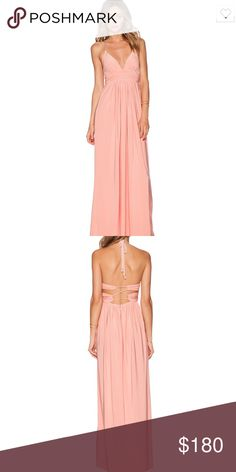 NWT T-Bags losangeles X back maxi dress in blush NWT T-Bags losangeles X back maxi dress in blush. Size medium T-Bags Dresses Maxi