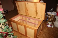 """1 of 2 Cedar Chests built for my daughters. This one is Birch Ply with Alder. 24""""x24""""x48"""""""