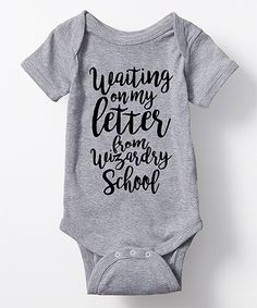 This Athletic Heather 'Waiting On My Letter' Bodysuit by KidTeeZ is perfect! #zulilyfinds