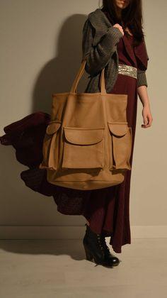 Leather Scout Bag by NammuWorkshop on Etsy