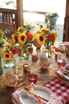 No-fuss flowers, casual votives, and chilled rosé set the simple yet enchanting scene.
