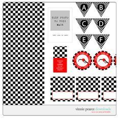 Free printable race car party.