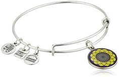Alex and Ani Charity By Design Sunflower Rafaelian Silver Bangle Bracelet *** Visit the image link more details. Bangle Bracelets With Charms, Alex And Ani Bracelets, Alex And Ani Jewelry, Silver Bangle Bracelets, Bracelets For Men, Bangles, Leather Bracelets, Link Bracelets, Mens Sterling Silver Necklace