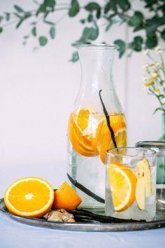 Eau détox orange vanille