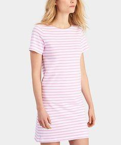 Look at this #zulilyfind! Pink & White Stripe T-Shirt Dress - Women #zulilyfinds
